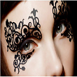 Halloween Ball Silk Is Hollow-out Eye Shadow Post Fashion Comfortable Soft Liner Permeability  Is Good 1Pcs