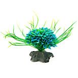 Aquarium Dekoration Verzierungen Plastik Blau