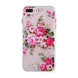 Flower Pattern Simple Matte TPU Material Luminous Phone Shell For iPhone 7 7 Plus 6s 6 Plus