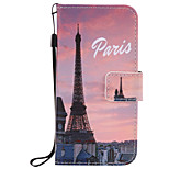 For iPhone 7Plus 7 6s Plus 6Plus 6S 6 SE 5s 5 PU Leather Material Eiffel Tower Embossed Protective Cover