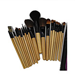 15 Makeup Brushes Set Goat Hair Portable Wood Face G.R.C / Send Package