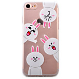 For iPhone 7 Case / iPhone 6 Case / iPhone 5 Case Transparent / Pattern Case Back Cover Case Cartoon Soft TPU AppleiPhone 7 Plus / iPhone