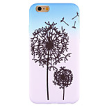 For iPhone 6 Case / iPhone 6 Plus Case / iPhone 5 Case Pattern Case Back Cover Case Dandelion Soft Silicone AppleiPhone 6s Plus/6 Plus /