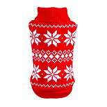 Winter Classic Christmas Snowflake Pattern Sweater Puppy Clothing for Pets Dogs (Assorted Sizes and Colours)