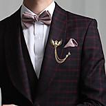 moda asas do crânio do vintage broche nota