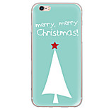 Para Ultrafina / Traslúcido Funda Cubierta Trasera Funda Navidad Suave TPU AppleiPhone 7 Plus / iPhone 7 / iPhone 6s Plus/6 Plus / iPhone