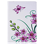 With Stand Flip  Flower Pattern Case Full Body Case Hard PU Leather for iPad Mini 234