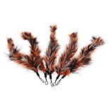 5x Modern Replacement Bird Feather for Cat Pet Wand Teaser Interactive Toy Fun