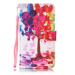 Color Tree Pattern PU Leather Lanyard phone Case for LG K7 LG LS775 STYLUS2