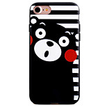 Shy Bear Pattern Painting Touch Feel TPU Border Acrylic Material Phone Case For iPhone 7  7Plus 6S 6 Plus