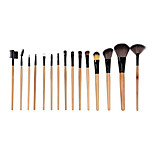 15 Makeup Brushes Set The Persian Wool Portable Wood Face NFSS / Send Package