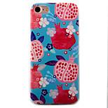 Para Funda iPhone 7 / Funda iPhone 7 Plus / Funda iPhone 6 En Relieve / Diseños Funda Cubierta Trasera Funda Fruta Suave TPU AppleiPhone