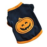 Cool Halloween Pumpkin Fleece Black Shirt Autumn Winter Coat  Dog Clothes for Pets