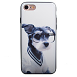 Glasses Dog Pattern PC Plus TPU Material Phone Case For iPhone 7 7 Plus 6 6Plus