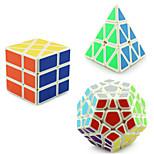 Yongjun® Cube velocidade lisa Pyraminx / Alienígeno / MegaMinx profissional Nível Alivia Estresse / Cubos Mágicos Branco Etiqueta lisa /
