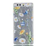 Pour Ultrafine Transparente Motif Coque Coque Arrière Coque Fleur Flexible PUT pour Huawei Huawei P9 Huawei P9 Lite Huawei P8 Lite