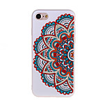 Half Flowers Pattern 3D Stereo Relief Diamond Scrub TPU Material Phone Case For iPhone7 7 Plus