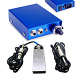 Solong Tattoo Double Output Digital Tattoo Power Supply  Foot Pedal  Clip Cord Kit P103-1