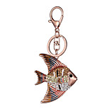 Europe And The United States New Realistic Guitar Key Chain Fish Key Chain Bag Car Key Pendant Valentine's Day Gift Factory Direct Sales