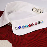 Fashion Vintage Circle Multicolour Mountain Crystal Brooch