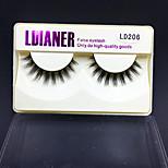 Full Strip Lashes Eyes Thick Handmade mink hair eyelash Black Band 0.10mm 12mm LD206