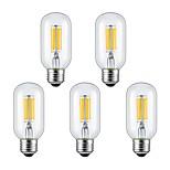 6W E26/E27 Ampoules à Filament LED 6 COB 560 lm Blanc Chaud Blanc Froid AC 85-265 V 5 pièces
