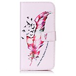 Feather Pattern Card Holder PU Leather case For iPhone 7 7 Plus