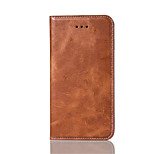 High-Grade Pure Color PU Leather for iphone7plus 7 6plus 6S 5S SE 5