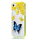 Para Funda iPhone 7 / Funda iPhone 6 / Funda iPhone 5 Transparente / Diseños Funda Cubierta Trasera Funda Mariposa Suave TPU AppleiPhone