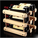 1PC Color Random Creative Newfangled Kitchen Grogshop Restaurant Decoration Wood Art Wine Place Rack