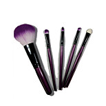 5 Makeup Brushes Set Goat Hair Portable Wood Face NFSS / Send Package