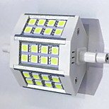 R7S 78mm 24x 5050SMD 6W Warm White / Cool White 600LM 220Beam Horizontal Plug Lights  Flood Light AC85-265V