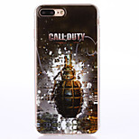 For iPhone 7 Plus 7 6s Plus 6 Plus 6S 6 TPU Material  IMD Process Hand Grenades Pattern Phone Soft Shell