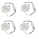 YouOKLight 4PCS 7W 6000K 600lm White Light 35-SMD2835  Ceiling Light Lamp - Silver (AC 100240V)