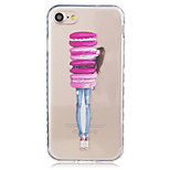 Para Funda iPhone 7 / Funda iPhone 6 / Funda iPhone 5 Transparente / Diseños Funda Cubierta Trasera Funda Chica Sexy Suave TPU Apple