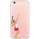 Tennis Beauty Pattern Cartoon PC Hard Case For Apple iPhone 6s Plus 6 Plus iPhone 6s 6 iPhone SE 5s 5