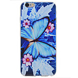 Blue Butterfly Pattern TPU High Purity  Soft Phone Case for iPhone 7 7Plus 6S 6Plus SE 5S 5
