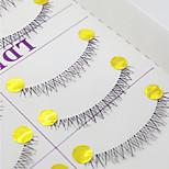 Ciglia Ciglia Ciglia inferiori Occhi Incrociate Fatto a mano Fibra Transparent Band 0.10mm 6mm