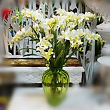 1 Branch Silk Orchids Artificial Flowers Freesia Silk Flowers Home Decor Fake Plants Pastorale Style Freesia