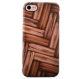 For iPhone 7 Case / iPhone 7 Plus Case / iPhone 6 Case Shockproof / IMD Case Back Cover Case Wood Grain Soft TPU AppleiPhone 7 Plus /