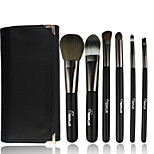 6 Makeup Brushes Set Nylon Professional / Portable Wood Face / Eye / Lip