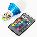 YouOKLight E27 3W 1-LED Multi-Colored RGB Light Bulb w/ Remote Control (AC 85265V)