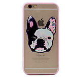 Puppy Pattern Relief High Strength Touch Handle TPU Frame  Acrylic Material Phone Shell For iPhone 7  7Plus 6S 6 Plus