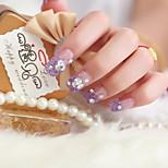 24 Super Beautiful Manicure Slice Patch Manicure Fake Nails a Bride
