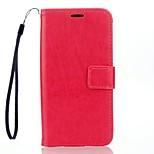 Futerał Portfel / Etui na karty / Z podpórką Jeden kolor Skóra PU Twarde Skrzynki pokrywa Dla LG LG K10 / LG K7 / LG G4 / LG G3