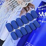 24Pcs  The New Nail Strips To Winter Good Cowboy  Denim Blue Texture  1Set
