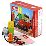 Building Blocks For Gift  Building Blocks Square / Cylindrical / Car Plastic Above 3 Rainbow Toys