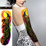 1Pcs New Big Size Waterproof Full Arm Tattoo Sticker fake Sleeves Body Art Temporary Tattoos Shoulder Peacock