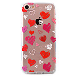 Love Pattern Relief Tpu Acrylic Material High Through The Phone Shell For iPhone 7  7Plus 6S 6 Plus