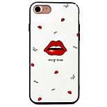 Red Lips Pattern Relief High Strength Touch Handle TPU Frame  Acrylic Material Phone Shell For iPhone 7  7Plus 6S 6 Plus